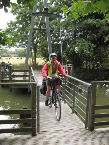 bois, colline, randonnée, vélo, deule, canal