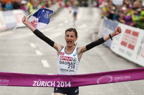 Christelle, daunay, marathon, médaille, or, zurich