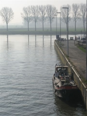 vlo, canal, Bossuit, Courtrai, Schelde, Flandre, Belgique