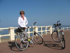 vélo, arcachon, mer, villas
