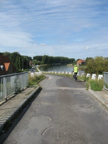 watten, canal, randonnée, vélo