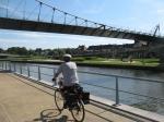 Courtrai, Lys, flandre, belgique, vélo