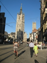 Gent, Gand, Belgique, vélo, tramway