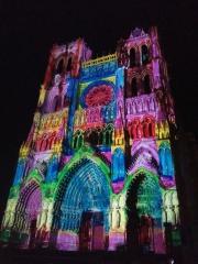 Amiens, cathédrale, éclairage, chroma, illumination
