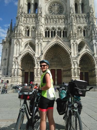 Cathédrale, Amiens, randonnée, vélo, Somme