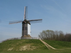Courtrai, moulin, Flandre, Belgique