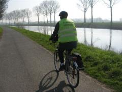 vélo, canal, Flandre, Belgique