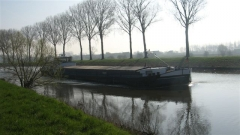 canal, pniche, Bossuit, Courtrai, Schelde, Flandre, Belgique