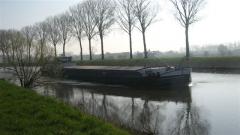 canal, péniche, Bossuit, Courtrai, Schelde, Flandre, Belgique