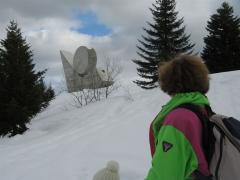 Plateau, Glières, Monument, Raquette