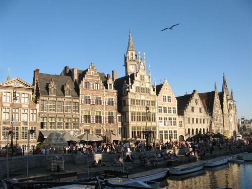 Gand, Gent, Belgique, Quai aux herbes