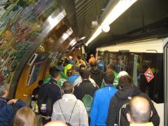 Métro, marathon, Madrid