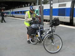 gare, vélo, train