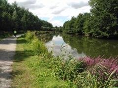 canal, somme, randonnée, vélo
