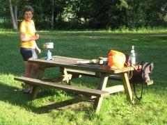 camping, chartres, petit-déjeuner